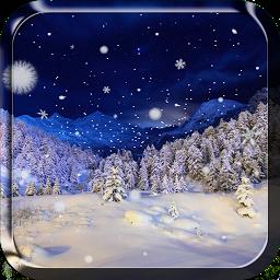 Зимняя тема: Снегопад Живые Обои